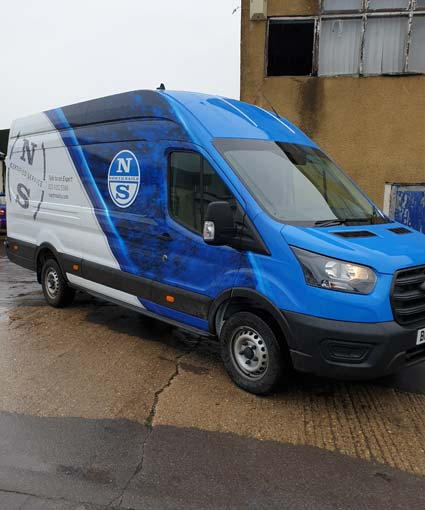 Van wrapping for advertising